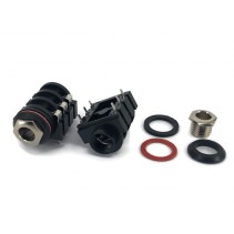 """6.35mm 1/4"""" Stereo Insulated Switched Socket Jack PCB"""