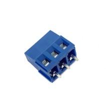 DG128 Screw Terminal Block 3 Positions 5mm Blue Color