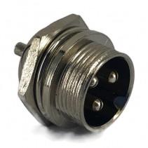 3 Pins Male circular connector 16mm GX16