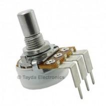 200K OHM Logarithmic Taper Potentiometer PCB Mount Round Shaft Dia: 6.35mm