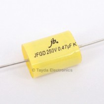0.47uF 250V 105C 10% Axial Flat Oval Metallized Polypropylene Capacitor