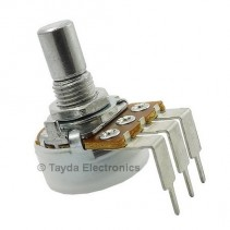 10K OHM Anti-Log Taper Potentiometer PCB Mount Round Shaft Dia: 6.35mm