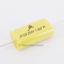 1uF 250V 105C 10% Axial Flat Oval Metallized Polypropylene Capacitor