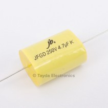 4.7uF 250V 105C 10% Axial Flat Oval Metallized Polypropylene Capacitor