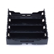 4x18650 Lithium Battery Holder Case Black PCB 8 Pin