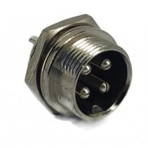 4 Pins Male circular connector 16mm GX16