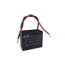 CBB61 Fan Capacitor 4uF 5% 450VAC 50/60Hz with Wire leads