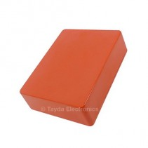 1590BB Style Aluminum Diecast Enclosure Burnt Orange