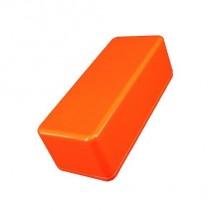 1590A Style Aluminum Diecast Enclosure Glowing Orange