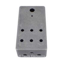 MATTE BLACK SAND TEXTURE Drilled Enclosure for PedalPCB 6 Knob Type 1
