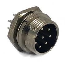8 Pins Male circular connector 16mm GX16
