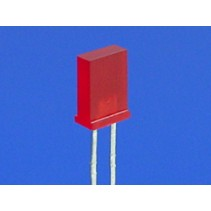 LED Rectangular RED 2x5mm