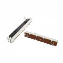 100K OHM Logarithmic Taper Slide Potentiometer PCB Mount Metal Shaft Lever Height: 15mm