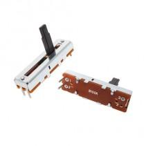 100K OHM Linear Taper Slide Potentiometer PCB Mount Plastic Shaft Lever Height: 15mm