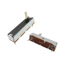 100K OHM Linear Taper Slide Potentiometer PCB Mount Shaft Lever Height: 15mm