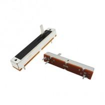 10K OHM Logarithmic Taper Slide Potentiometer PCB Mount Metal Shaft Lever Height: 15mm