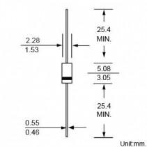 1N5223B ZENER DIODE 1/2W 2.7V