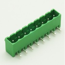 8 Pin Male Plug-In Type Vertical Terminal Block 5mm 5EHDRC