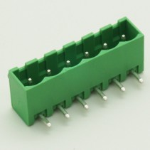 6 Pin Male Plug-In Type Vertical Terminal Block 5mm 5EHDRC