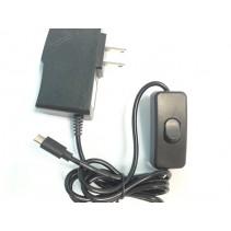 SPF-888 AC 100V-240V to DC 5V 3A Micro USB Power Supply Adaptor ON/OFF Switch