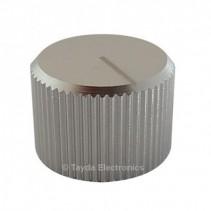 Knurled Aluminum White Knob 6.35mm
