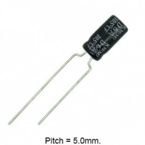 10uF 35V 105C Radial Electrolytic Capacitor 5x11mm