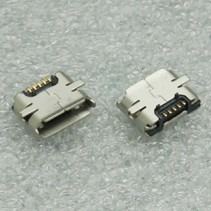 Micro USB Type B 5 Pin Female Connector Right Angle