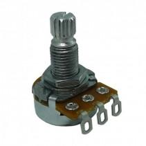 250K OHM Linear Taper Potentiometer Spline Shaft Solder Lugs