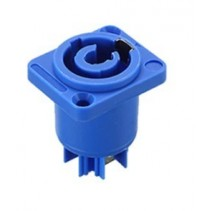 3 Pins Powercon Female Chassis Panel Mount Blue Color