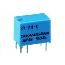 Mini Relay SPDT SY-24-K 24VDC 6PIN 1Poles 1A