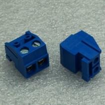DG332 Screw Terminal Block 2 Positions 5mm Blue Color