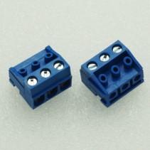 DG332 Screw Terminal Block 3 Positions 5mm Blue Color