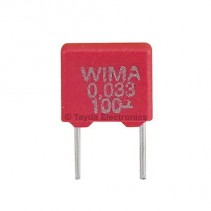 33nF 0.033uF 100V 10% Polyester Film Box Type Capacitor WIMA MKS2