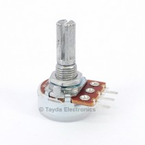 100K OHM W-Taper W100K Tone Control Potentiometer Center Detent PCB Mount Knurled Shaft Dia: 6mm Total Shaft Length:20 mm