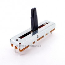 100K OHM W-Taper W100K Slide Potentiometer Center Detent PCB Mount Plastic Shaft Lever Height: 15mm
