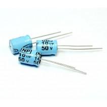 10uF 50V 85C Non-polarized Bipolar Electrolytic Capacitor 8x12mm