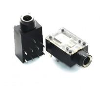 "6.35mm 1/4"" Stereo Audio Microphone Socket Jack PCB 9 Pin"