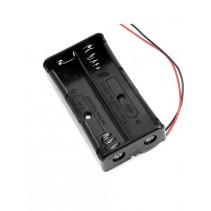 2x18650 Lithium Battery Holder Case Black with wire Leads