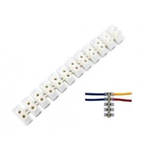 12 Way 10A 380V Barrier Screw Terminal Block Wire Connector Strip