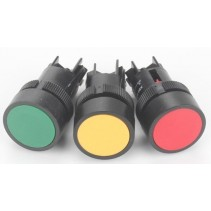 PUSH BUTTON SWITCH MOMENTARY RED COLOR 220V
