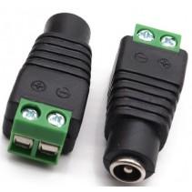 DC Power Female Plug 5.5x2.1mm with Screw