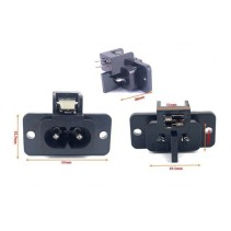 Male AC Power Socket  Connector 2 Pins 2.5A 250V