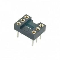 6 Pin Machine Tooled IC Socket
