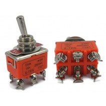 Toggle Switch DPDT On-On 15A 250V E-TEN1321