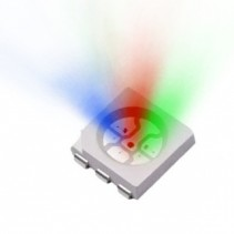 Tri-Color LED SMD Chip Red/Pure Green/Blue Color Water Clear Lens