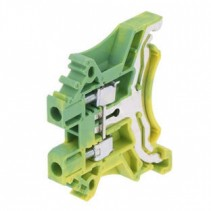 Din Rail Ground Terminal Block 1 Poles Pitch 5.10mm Yellow and Green Color