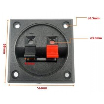 2 Way Speaker Terminal Square 56x56mm