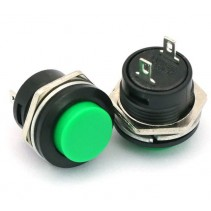 PUSH BUTTON SWITCH MOMENTARY Green Color SPST 3A 250VAC