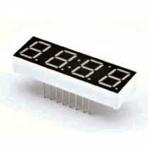 LED Display 7 Segment 4 Digit 0.39 inch Common Anode Ultra Yellow 21937ucd