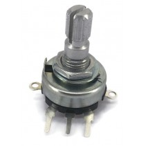 10K OHM Linear Taper Potentiometer On-Off Switch PCB Mount Knurled Shaft Dia: 6mm
